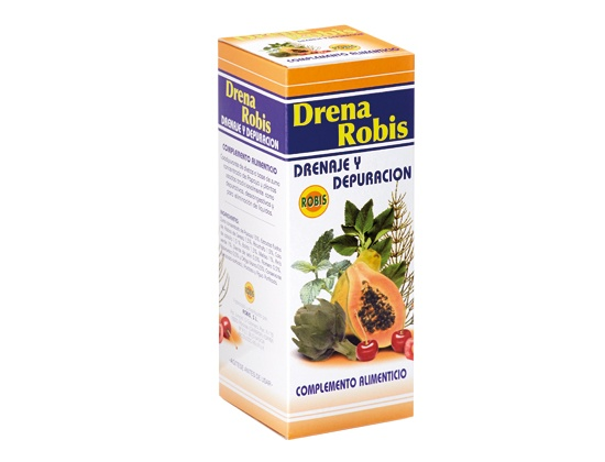 Food supplement of papaya juice concentrate (Carica papaya L.) Fluid extracts: Cherry tails (Prunus avium L.), artichoke (Cynara scolymus L.), horsetail (Equisetum arvense L.), boldo (Peumus boldus Molina), lemon balm (Melissa officinalis L.), anise ( Pimpinella anisum L.), dandelion (Taraxacum officinale L.), rosemary (Rosmarinus officinalis L.), marshmallow (Althaea officinalis L.) and white nettle (Urtica dioica L.), Drainage and clearance