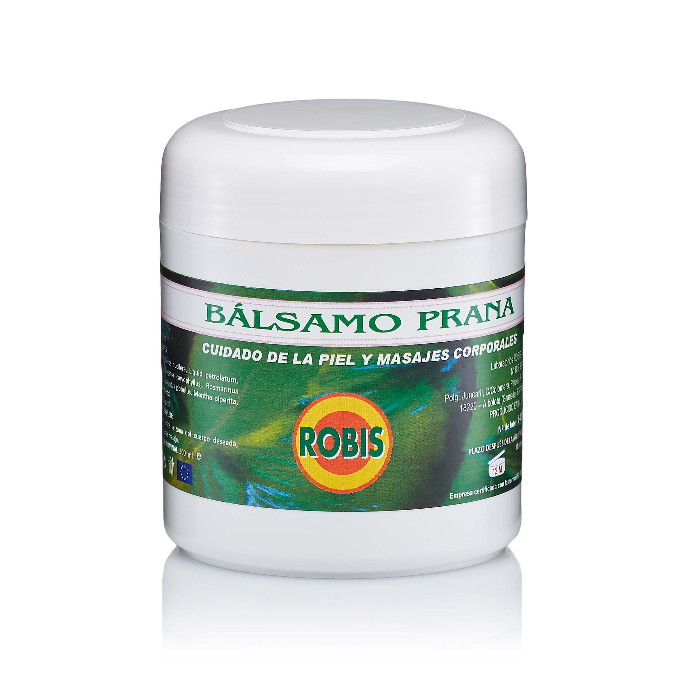 Food supplement of solid petrolatum, coconut oil, liquid petrolatum, beeswax, clove oil, rosemary oil, eucalyptus oil, peppermint oil, camphor and menthol. Muscles and joints flexible, eases the airways
